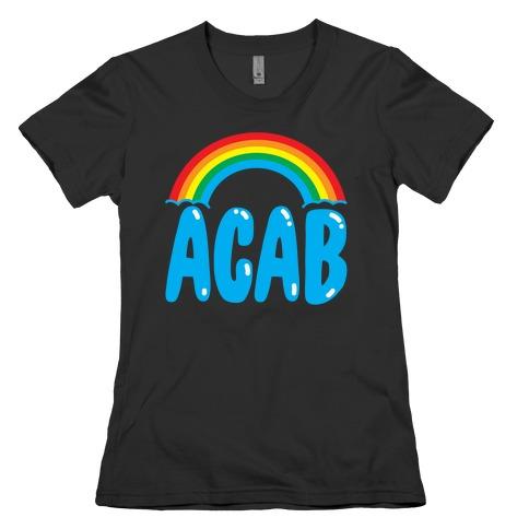 ACAB White Print Womens T-Shirt