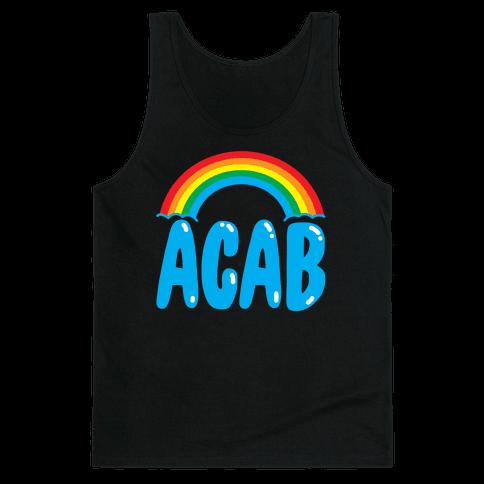 ACAB White Print Tank Top