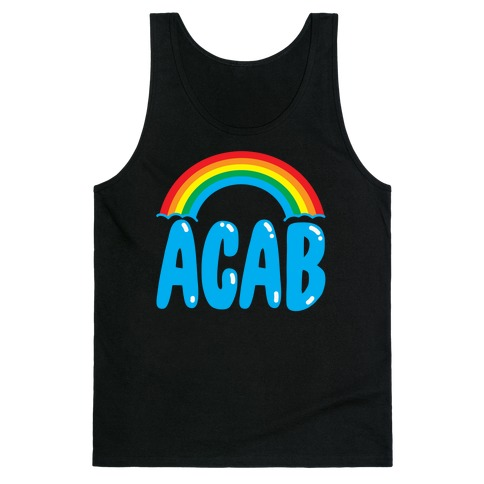 ACAB White Print Tank Top
