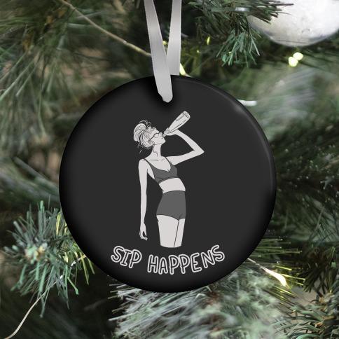 Sip Happens Ornament