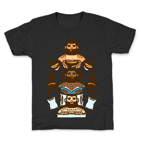 The 3 Bears White Print Kids T-Shirt