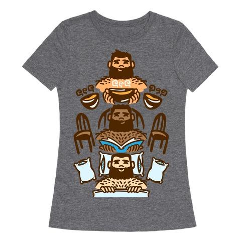 The 3 Bears White Print Womens T-Shirt