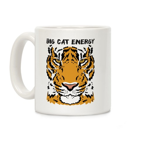 Big Cat Energy Tiger Coffee Mug