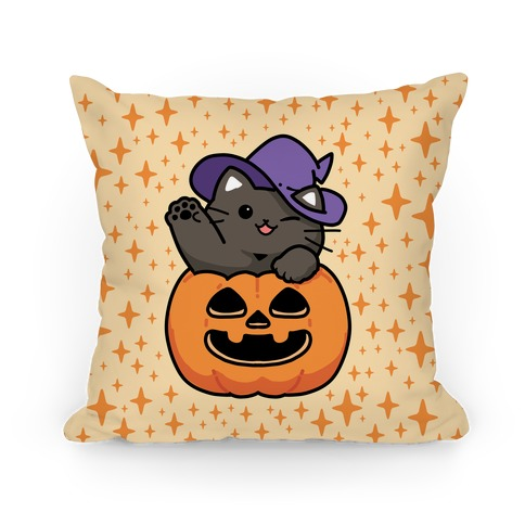 Cute Halloween Cat Pillow