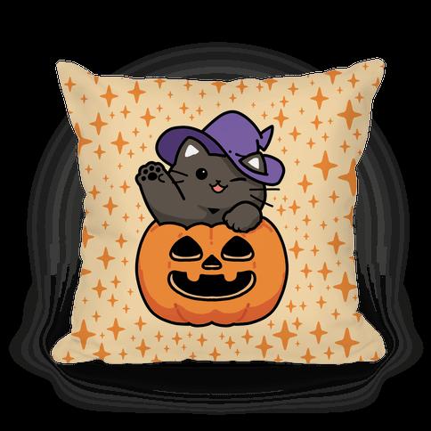 Cute Halloween Cat Pillow