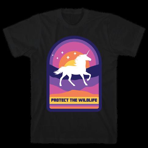 Protect The Wildlife (Unicorn) Mens/Unisex T-Shirt