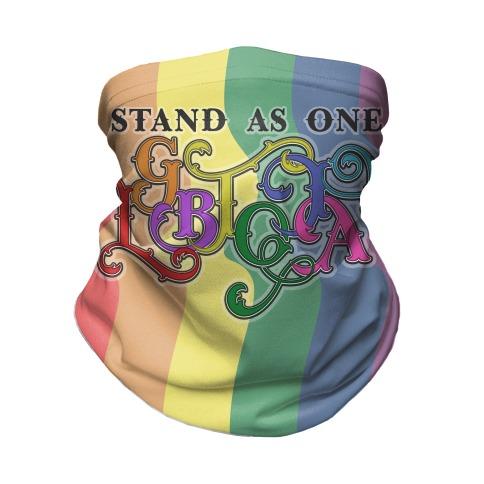 LGBTQIA+ Stand As One Neck Gaiter