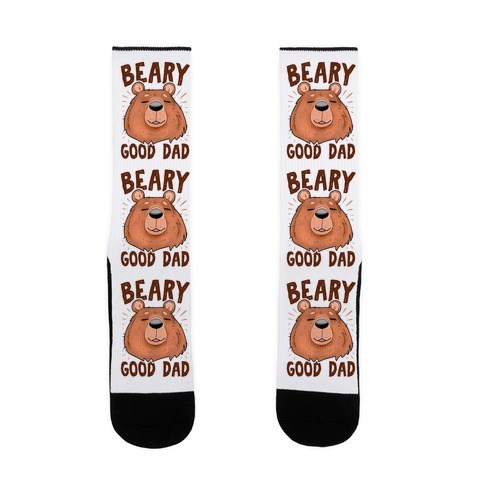 Beary Good Dad Sock