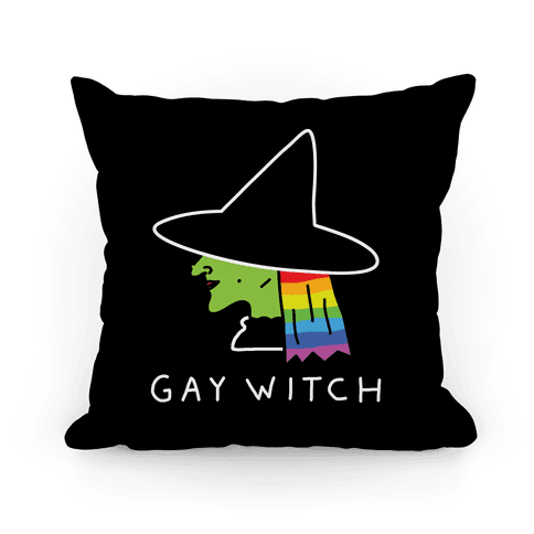 Gay Witch Pillow