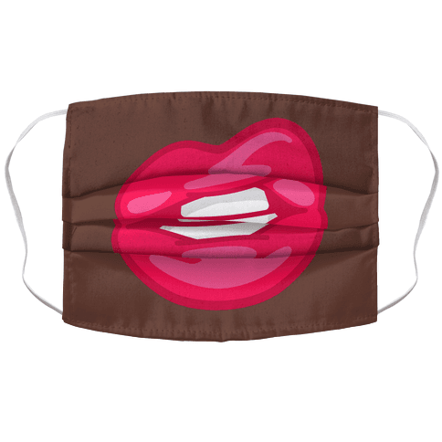 Lips (brown skin) Face Mask Cover