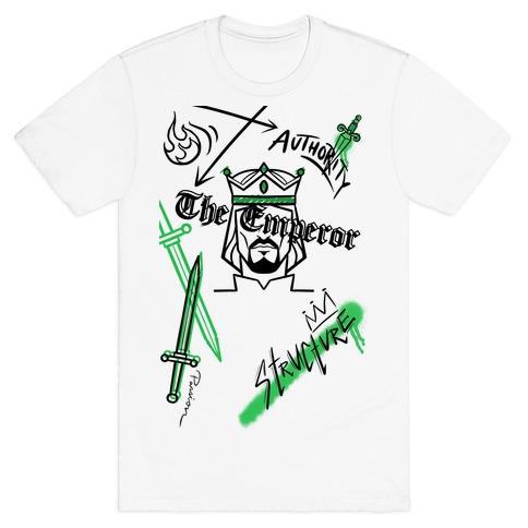 The Emperor Tarot Graphics (Black)  T-Shirt