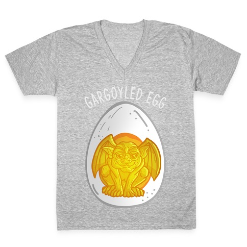 Gargoyled Egg V-Neck Tee Shirt