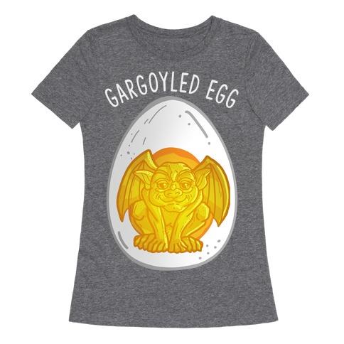 Gargoyled Egg Womens T-Shirt