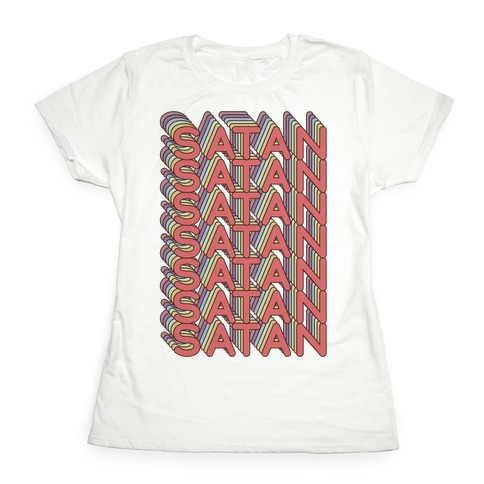 Satan Retro Rainbow Womens T-Shirt