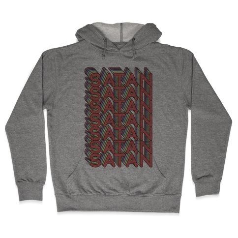 Satan Retro Rainbow Hooded Sweatshirt