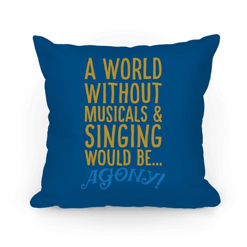 Agony Into The Woods Parody Pillow