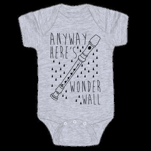 Anyway Here's Wonderwall  Baby Onesy