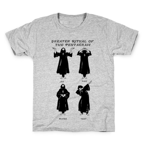 Greater Ritual of the Pentagram Dab Kids T-Shirt