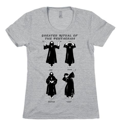 Greater Ritual of the Pentagram Dab Womens T-Shirt