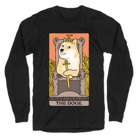 The Doge Tarot Parody Long Sleeve T-Shirt