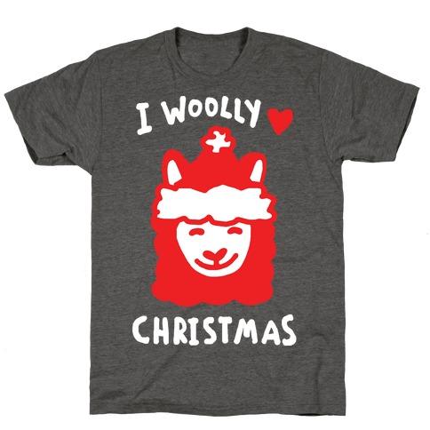 Llama Christmas Shirt.I Woolly Love Christmas Llama T Shirt Lookhuman