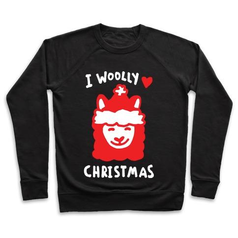 I Woolly Love Christmas Llama Pullover