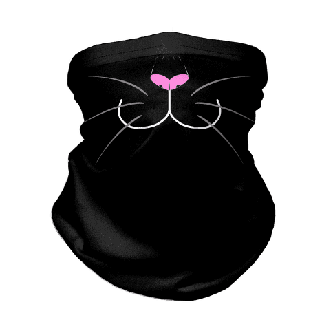 Black Cat Mouth Neck Gaiter