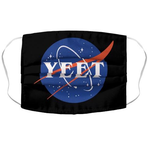 Yeet Nasa Logo Parody White Print Accordion Face Mask