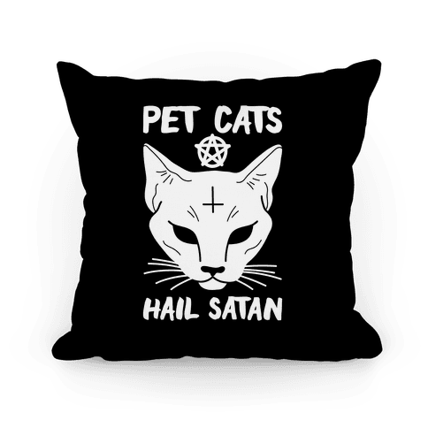 Pet Cats Hail Satan Sphynx Pillow