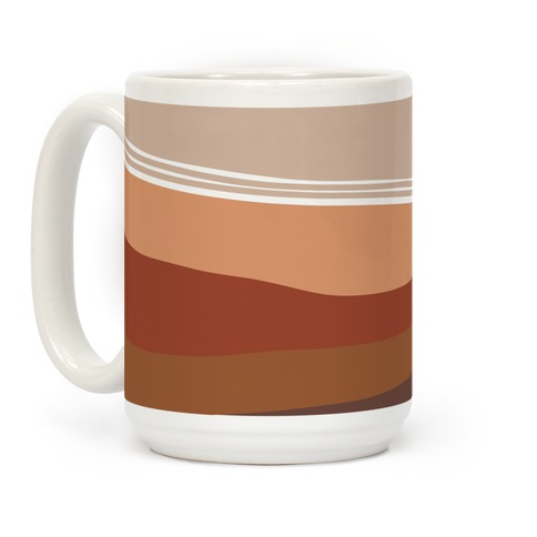 Terracotta Peach Sunset Coffee Mug