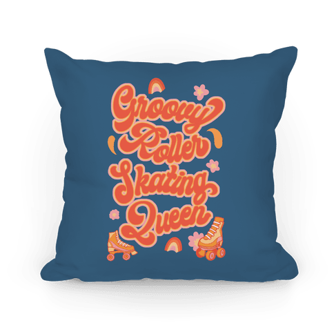 Groovy Roller Skating Queen Pillow