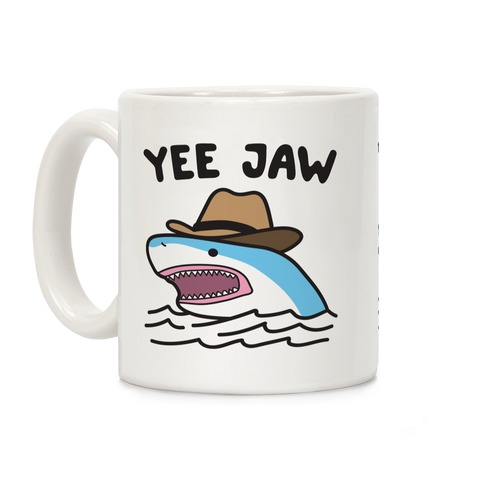 Yee Jaw Cowboy Shark Coffee Mug