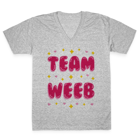 Team Weeb V-Neck Tee Shirt
