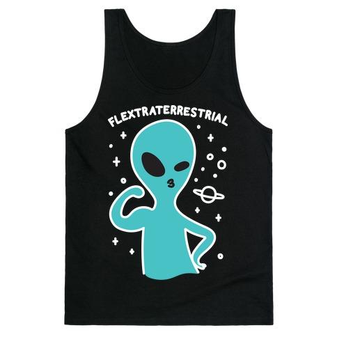 Flextraterrestrial Flexing Alien Tank Top