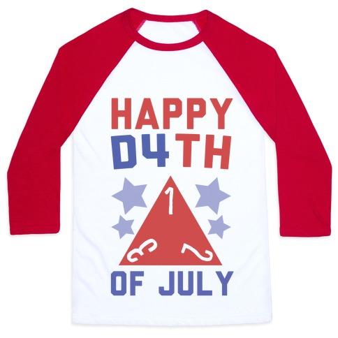 Happy D4th of July Baseball Tee