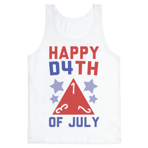 Happy D4th of July Tank Top