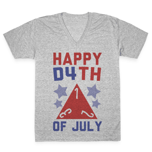Happy D4th of July V-Neck Tee Shirt
