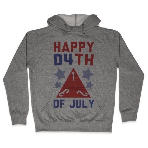 Happy D4th of July Hooded Sweatshirt