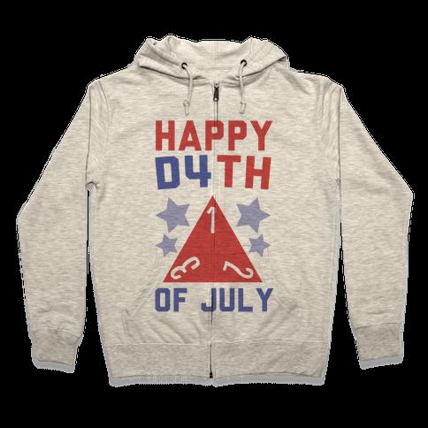 Happy D4th of July Zip Hoodie