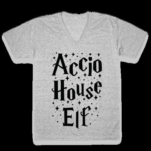 Accio House Elf V-Neck Tee Shirt