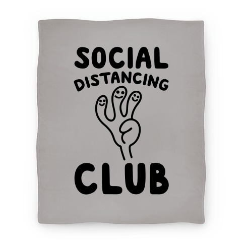 Social Distancing Club Blanket