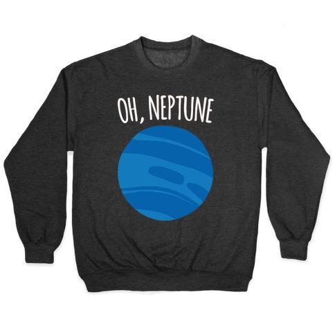 Oh Neptune White Print Pullover