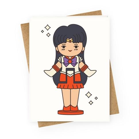 Sailor Mars Pocket Parody Greeting Card