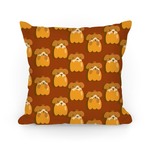 Pumpkin Puppy Pattern Pillow