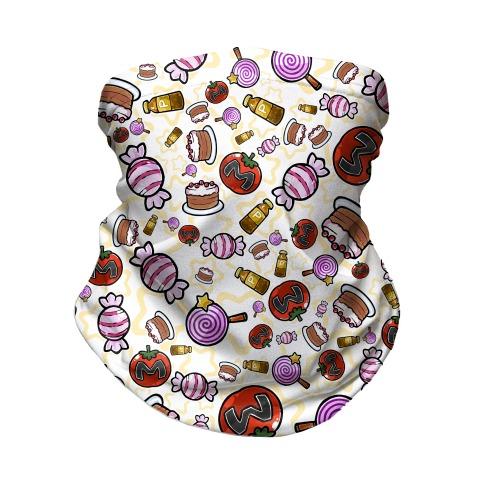 Kirby Munchies Pattern Neck Gaiter