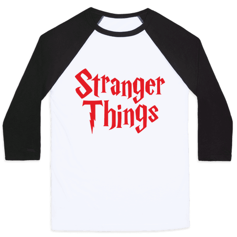 Stranger Harry Things Potter Baseball Tee