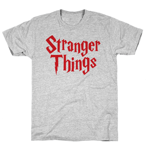 Stranger Harry Things Potter Mens T-Shirt