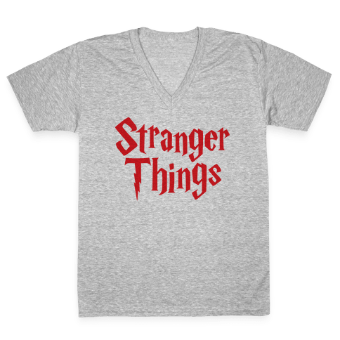 Stranger Harry Things Potter V-Neck Tee Shirt