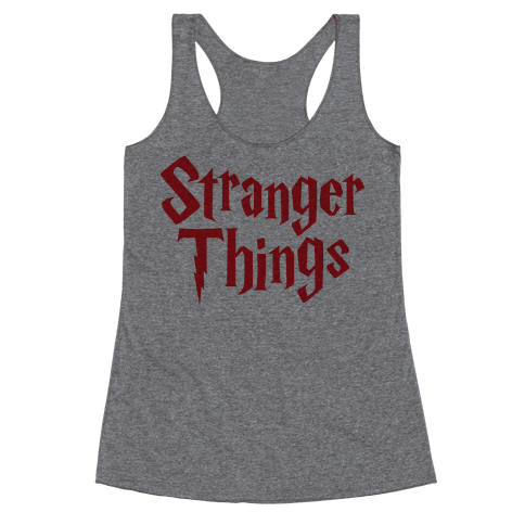 Stranger Harry Things Potter Racerback Tank Top