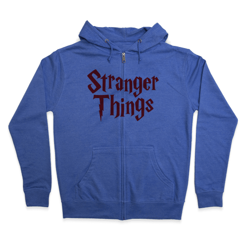 Stranger Harry Things Potter Zip Hoodie